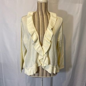 Jones New York White Layered Cardigan SZ: 2X